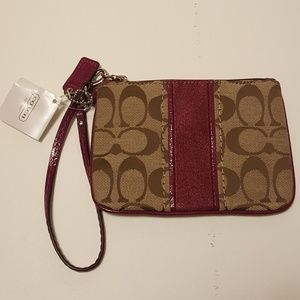 Coach Bags - Coach Wristlet Passion Berry NWT